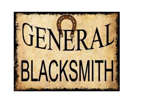 General Blacksmith Sign