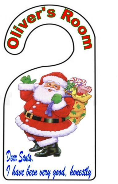 Boys Christmas Door Hanger