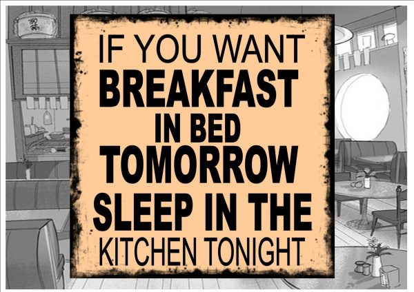 Breakfast Sign Wall Plaque