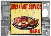 Breakfast Service Sign