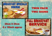 Cafe Breakfast Signs