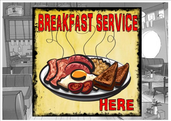 Breakfast Service Sign