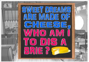 Cafe Cheese Sign Wall Plaque
