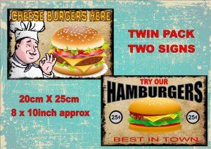 Vintage Burger Signs