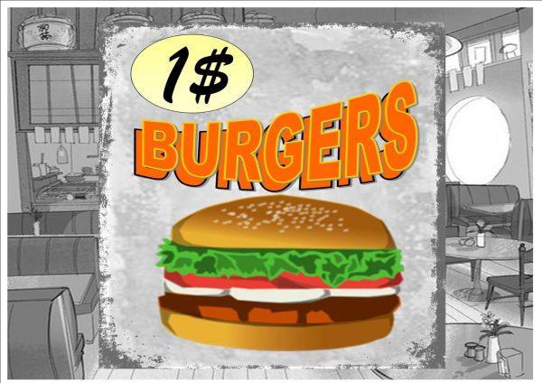 Hamburgers Sign Plaque