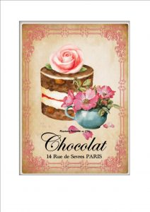 Vintage Pastry Cake Sign