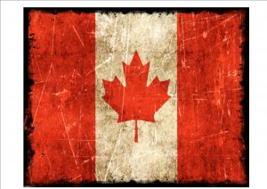 Canadian Flag Plaque