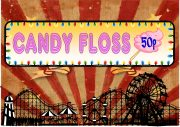 vintage Style Candy Floss Sign