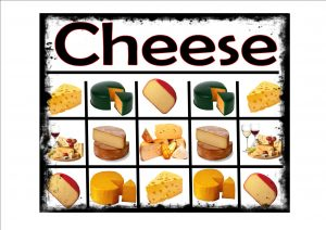 Cheese Selection Sign
