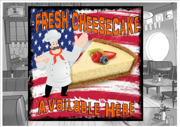 Cheesecake Cafe Sign Plaque