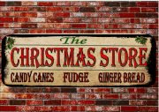 The Christmas Store Vintage Style Sign