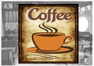 Coffee Shop Wall Plaque
