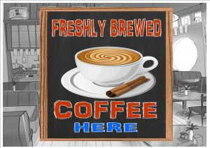 Fresh Coffee Sign Wall Plaque