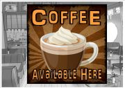 Coffee Shop Sign Wall Plaque