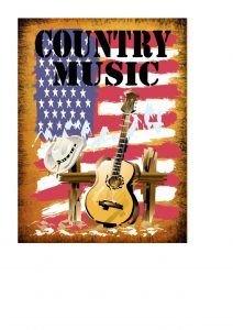 country music sign plaque
