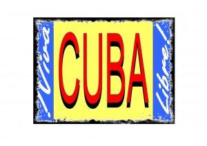 Vintage Cuba Sign