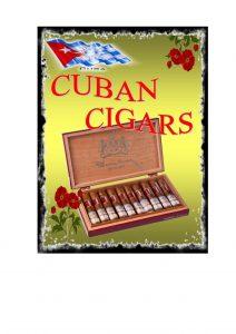 Cuban cigar Advertising Sign