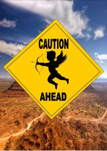 Caution Cupid Ahead Sign