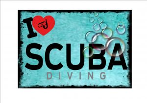 I Love Scuba Diving Novelty Wall Sign