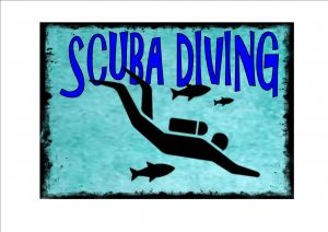 Scuba Diving Novelty Wall Sign