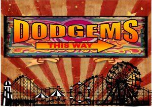 Vintage Style Dodgems Sign