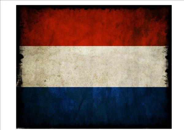 Dutch Flag Sign Plaque