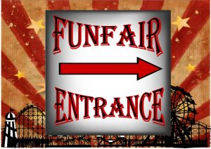 Vintage Style Fairground Carnival and Circus Signs