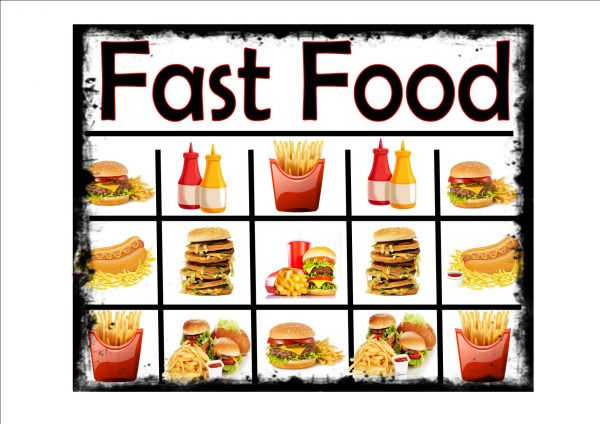 Fast Food Selection Sign
