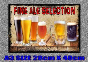 Fine Ale Selection Sign