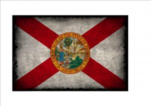 Florida Aged Flag Plaque