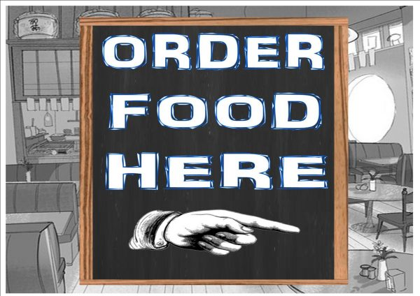 Food Order Here Plaque