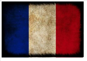Aged French Flag Wall Plaque Sign