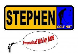 golfers personalised number plate