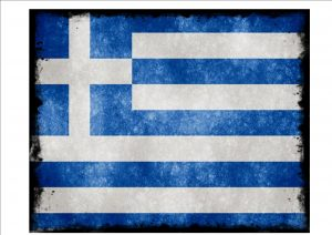 Greek Flag Sign