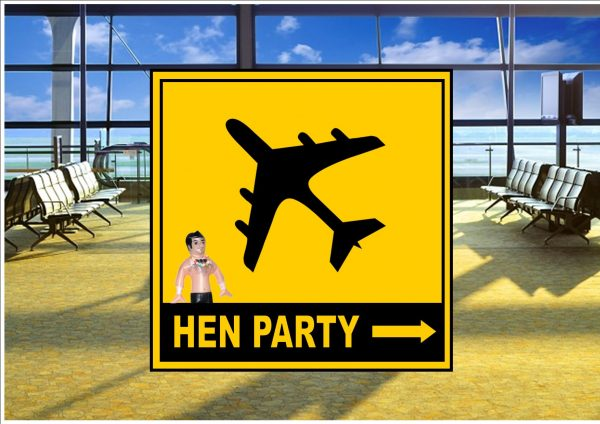 Airport Hen Party Sign