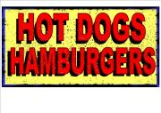 Hot Dog and Hamburger Sign