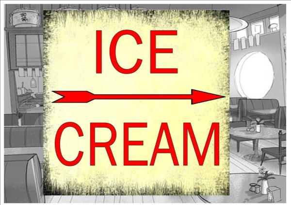 Ice Cream Parlour Sign Wall Plaque