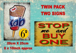 Vintage Ice Cream Signs