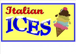 Italian ices Sign