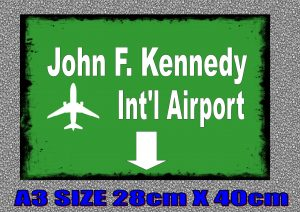 JFK New York City Airport Sign