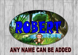 Boys Personalised Door Sign Jungle Monkey