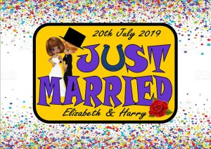 Just Married Number Plate/Licence Plate