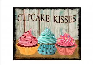 Cupcake Advertising Sign
