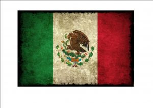 Mexican Aged Flag Plaque