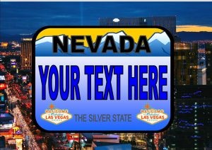 Nevada Number Plate/Licence Plate