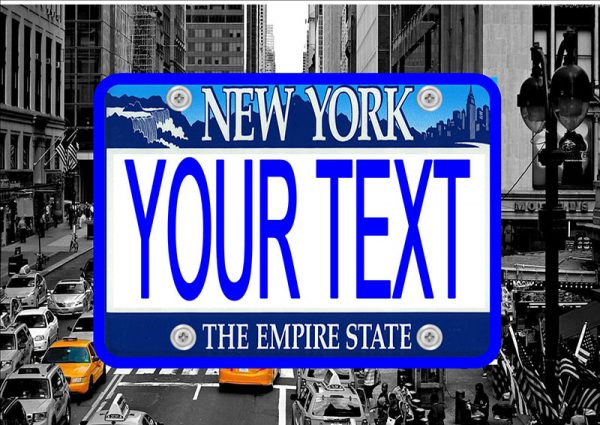 New York Number Plate/Licence Plate