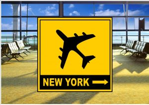 Airport New York City Sign