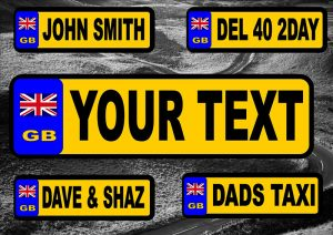 Personalised Novelty Number/Licence Plates