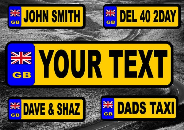 GB Number Plate/Licence Plate