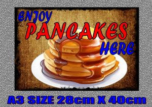 Pancakes Advertising Sign